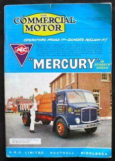 MOTOR MAGAZINE 7 OCT 1960   A.E.C. MERCURY, KARRIER GAMECOCK