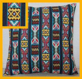 Fantastic Native American Indian Beaded Stripe cotton fabric cushion
