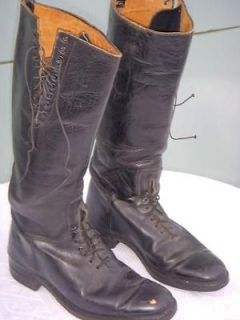 MOTORCYCLE POLICE JUMP MILITARY ARMY FLAT TRACK BOOTS goth 8 1/2 D