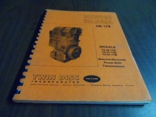 Twin Disc SM 178 Power Shift Transmission Service Manual