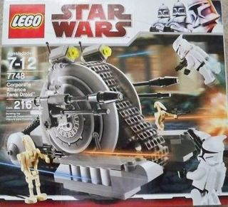 Lego #7748 Corporate Alliance Tank Droid NEW New In Box Retired