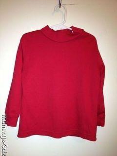 Hanna Andersson Red Half Turtleneck Shirt Top Sz 100 Organic Cotton 3