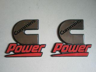 CUMMINS POWER emblem (x2) Dodge Kenworth Peterbilt