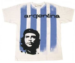 Che Guevara STRIPED Argentina Football Soccer Jersey Mens Tee Shirt
