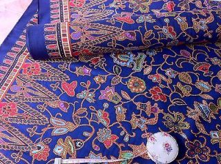 Singapore Airline Stewardess Uniform Batik Fabric 1 Meter RARE! Pierre