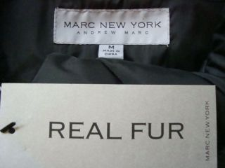 NWT MARC NEW YORK By ANDREW MARC Real Fur Hooded Full Length Down Coat