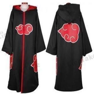 Japan Anime Naruto Akatsuki COSPLAY Costume 4 red clouds Cloak with
