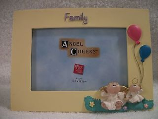 Angel Cheeks Picture Frame FAMILY Russ Berrie Collectible  N ew With