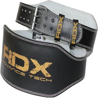 RDX Weight Lifting 6 Leather Belt Back Support Strap Gym Power