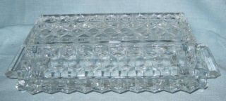 Vintage Glass Butter Dish American Pattern Clear