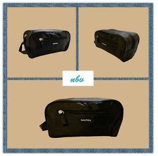 Mens Nautica Toiletry Travel Bag Black Color