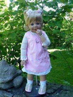 Mondays Child Blonde ~ Adorable Child By Monika Levenig For