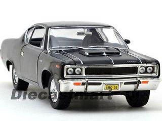 YAT MING 118 1970 AMC REBEL DIECAST MODEL CAR BLACK