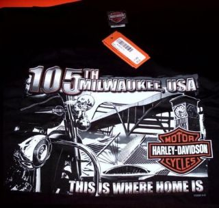 HARLEY 105TH ANNIVERSARY RALLY T SHIRT large xl 2xl new