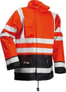 Flame Proof Hi Viz Waterproof Work Jacket Winter Coat Fur Lining High