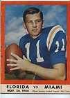 1966 University of Florida Gators vs Miami Steve Spurrier football