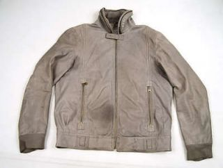 Newly listed CLOAK Calfskin Leather Zip Jacket Gray SMALL
