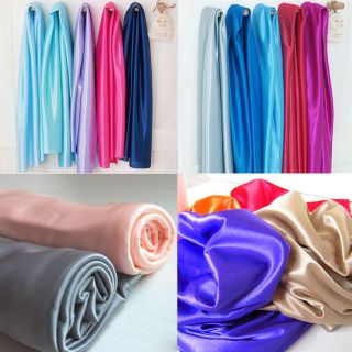 4YARDS SHINY STRETCH SATIN BRIDAL FABRIC WEDDING TABLECLOTH DRESS