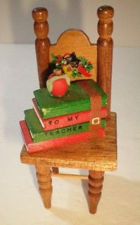 VINTAGE OLD WOODEN MINI SCHOOL CHAIR DOLL HOUSE FURNITURE FREE