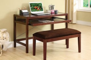 Modern Birch Wood Writing Computer Secretary Desk NEW