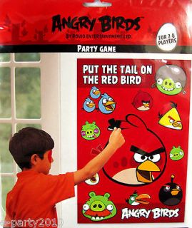 ANGRY BIRDS Pin the Tail PARTY GAME Poster ~ Birthday Supplies