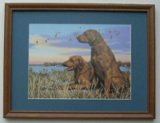 Chesapeake Bay Retrievers Framed Picture Art