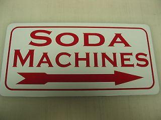 SODA MACHINES Metal Sign Vintage Style Coke or Pepsi