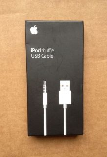 APPLE IPOD SHUFFLE USB CABLE FOR 3RD AND 4TH GEN MC003ZM/A, AUTHENTIC