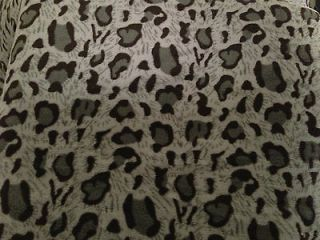 Queen blanket Super Soft Grey Black Leopard animal Print Microfiber