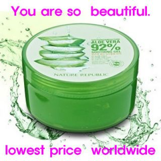 ALOE VERA GEL 92% 300ml NEW Soothing Moisture Skin Care pure cosmetic
