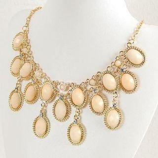 New Women Vintage Antique Style Jewelry Bib Statement Gold GP Fashion