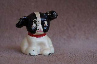 Vintage Painted Cast Iron HUBLEY Fido Pup Dog Paperweight
