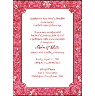 Personalized 50th Wedding Anniversary Party Invitations AP 011
