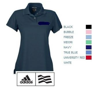 ADIDAS GOLF Ladies Size S 2XL CLIMACOOL Mesh Textured Dri fit Polo