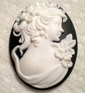 Pins Brooches black cameo in Vintage & Antique Jewelry
