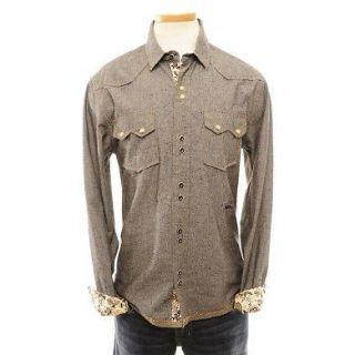 Distressed Woven ENGLISH LAUNDRY JOHN LENNON Shirt Size L LARGE NWT