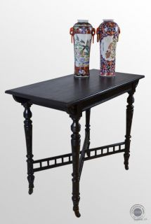 Antique Library Writing Hall Table Ebonised Aesthetic Period George