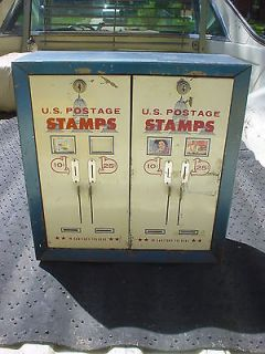 Vintage RARE ( DOUBLE) U.S. Postage Stamp Vending Machine/Dispenser 10