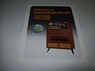 II SMOKESHOP VINTAGE ORIGINAL CIGARETTE VENDING MACHINE FLYER BROCHURE