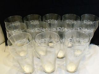 Vintage Glasses Set of 12 Clear Glass Coca Cola Glasses Coke