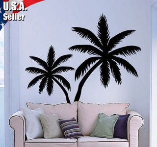 Wall Art Decor Removable Mural Vinyl Decal Sticker Palm Trees Set of 2