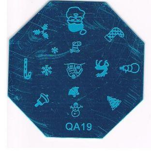 christmas stamp art plate