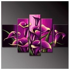 Modern Abstract WALL DECOR Art Oil Painting Flower art No frame
