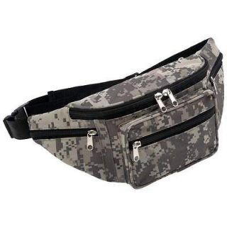 NEW Digital Camo Water Repellent Fanny Pack Waist Bag /Travel /Hunting