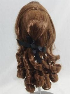 Wig for American Girl Jess Doll Neo Blythe Doll 10 11 Curly Brwon w