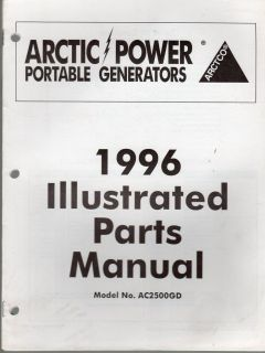 1996 ARCTIC CAT PORTABLE GENERATOR PARTS MANUAL
