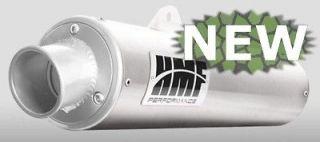 Brushed Aluminum ATV Muffler Slip On Exhaust Pipe Arctic Cat 700 EFI