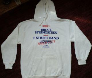SCARCE NEW VINTAGE ORG 1984 Bruce Springsteen Concert Tour Crew Hoodie