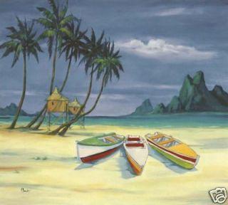 Tropical PAUL BRENT ARCHIPELAGO BEACH Wallpaper Mural