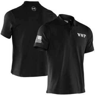 Under Armour Mens Wounded Warrior Project Graphic Golf Polo Shirt